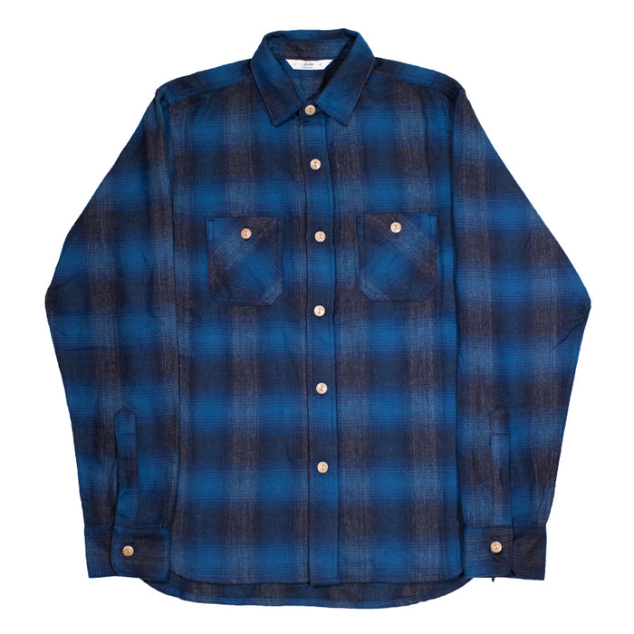 3sixteen -  Utility Shirt Navy/Black Ombre