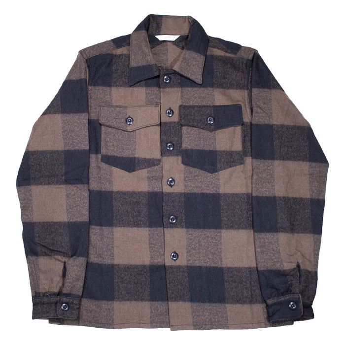 3sixteen -  Fatigue Overshirt in Brown Buffalo Check