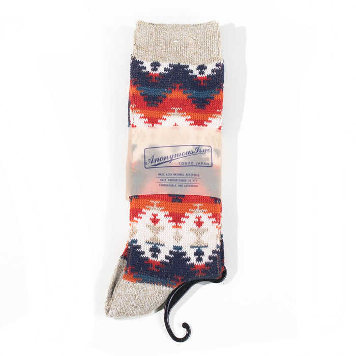 Anonymous ism - Light Grey Wigwam Knit Socks