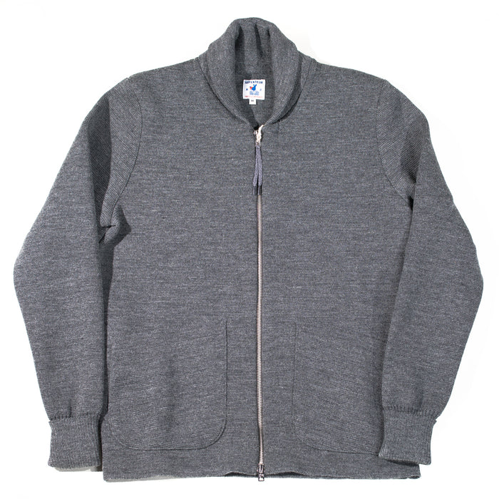 Arpenteur - Charcoal Roscoff Zip Sweater