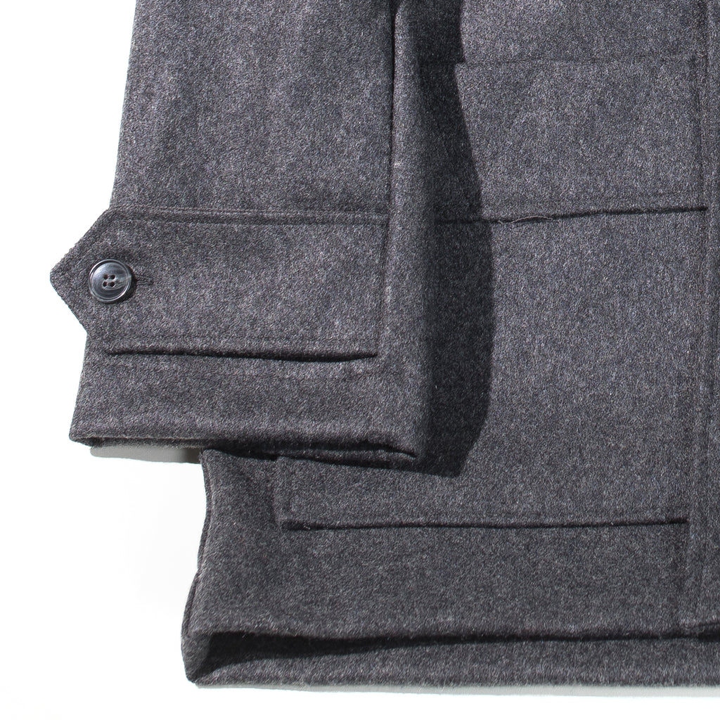 Arpenteur - Grey Kabig Melton Wool Jacket