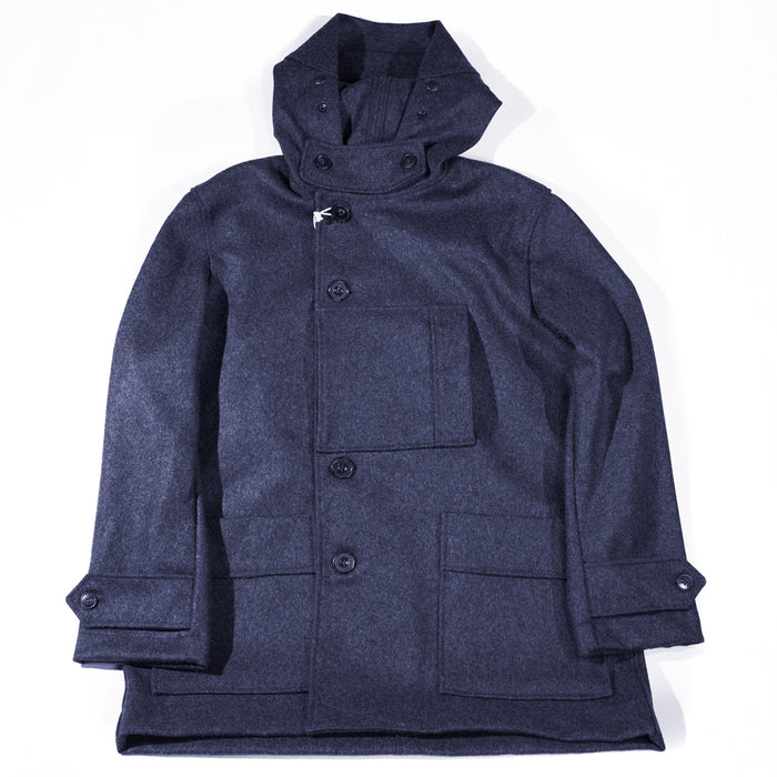 Arpenteur - Navy Kabig Melton Wool Jacket