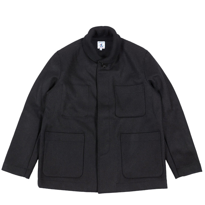 Arpenteur - Black Melton Wool Atlas Jacket