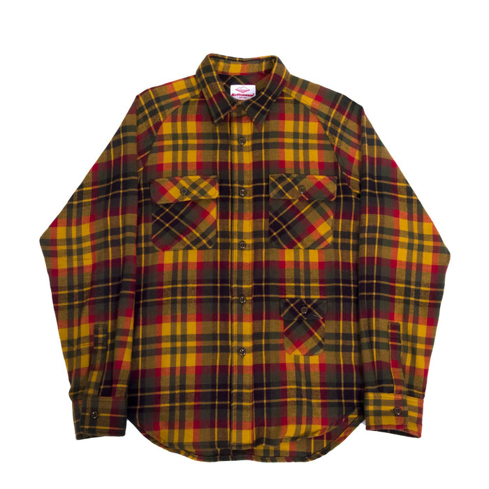 Battenwear - Mustard x Olive Button Up Camp Shirt