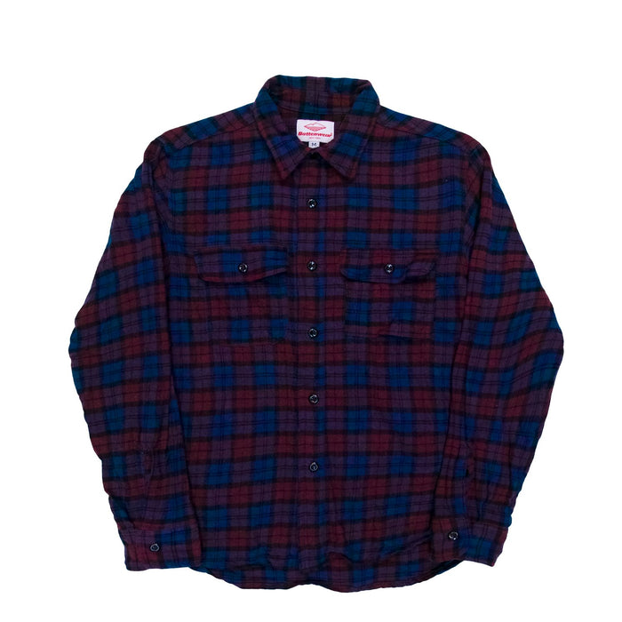 Battenwear - Navy x Burgundy Button Up Work Shirt