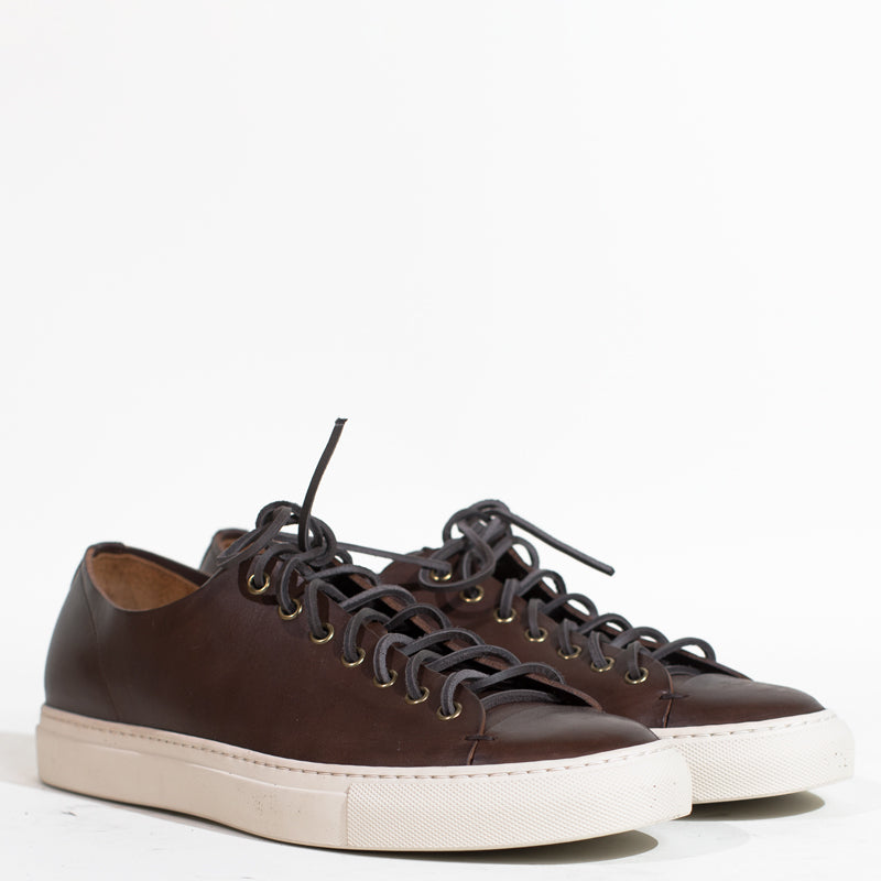 Buttero - Dark Brown Leather Tanino Low Sneakers