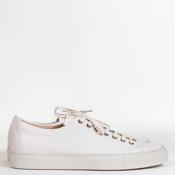 Buttero - White Leather Tanino Low Sneakers