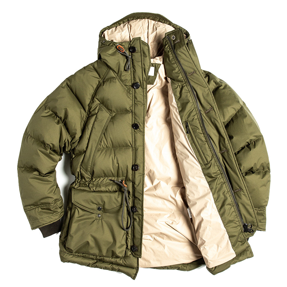 Eastlogue - Olive Fishtail Shield Down Parka