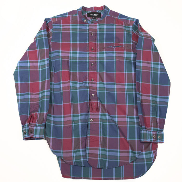 Eastlogue - Multi Bold Check Band Collar Button Up Shirt