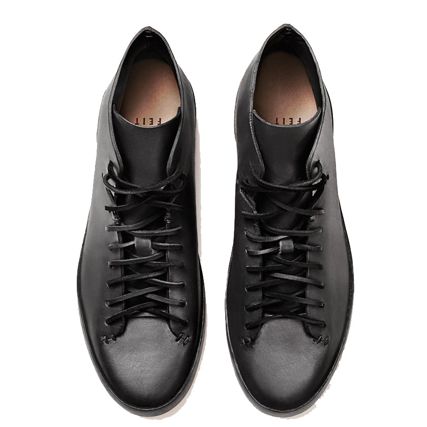 Feit - Black Veg Tan Hand Sewn High Sneaker