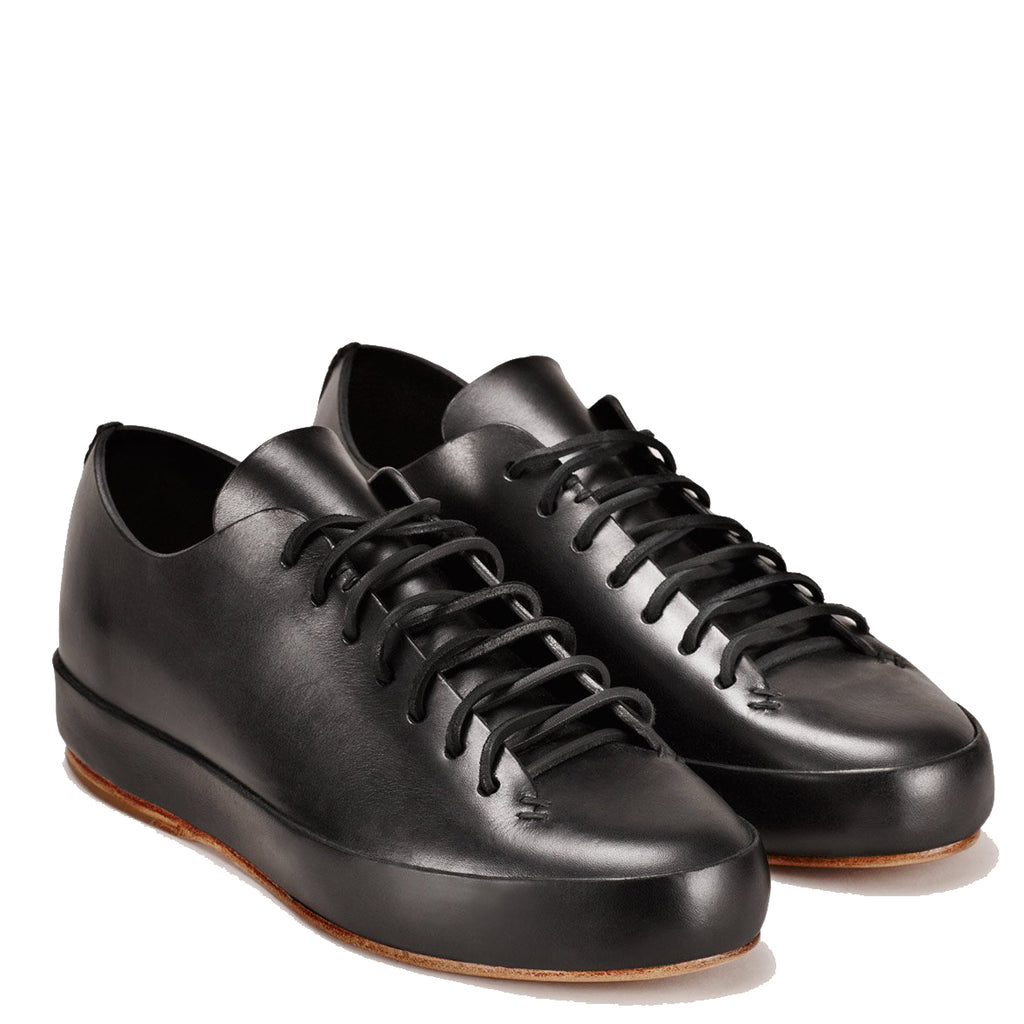 Feit - Black Veg Tan Hand Sewn Low Sneaker