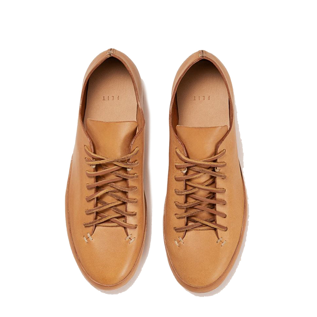 Feit - Natural Veg Tan Hand Sewn Low Sneaker