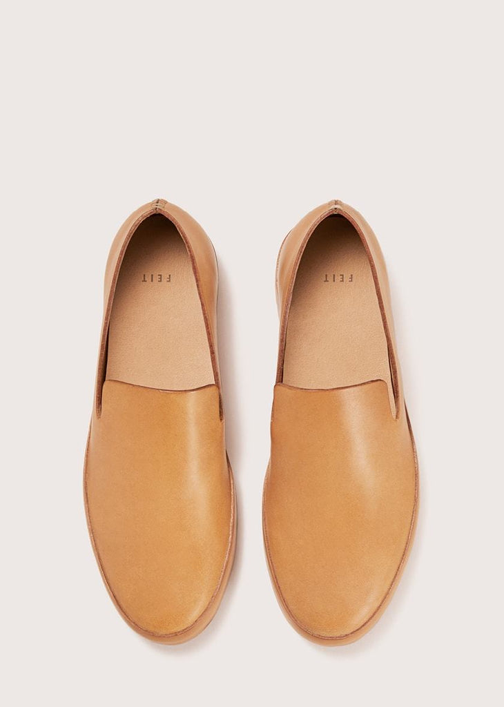 Feit - Natural Veg Tan Hand Sewn Wholecut Slipper