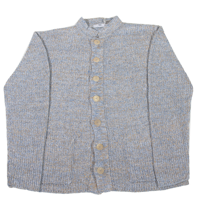 Inis Meáin - Corrib Nehru Collar Button Up Sweater