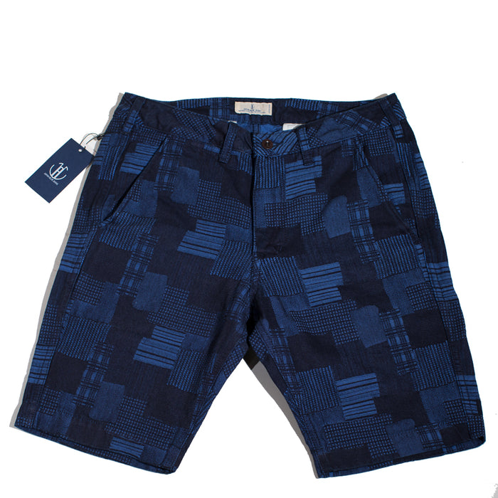 Japan Blue - JB5500 Indigo Patchwork Knee Shorts
