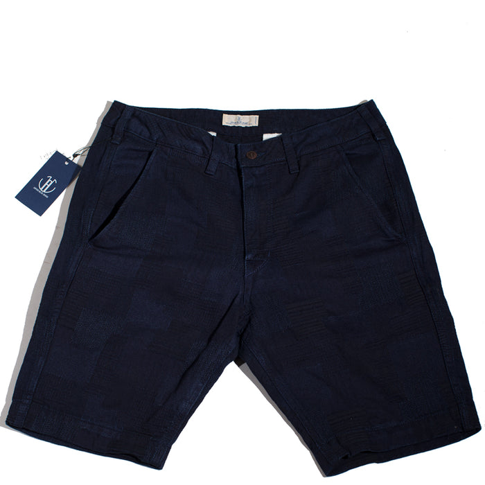 Japan Blue - JB5500 Dark Navy Indigo Patchwork Knee Shorts