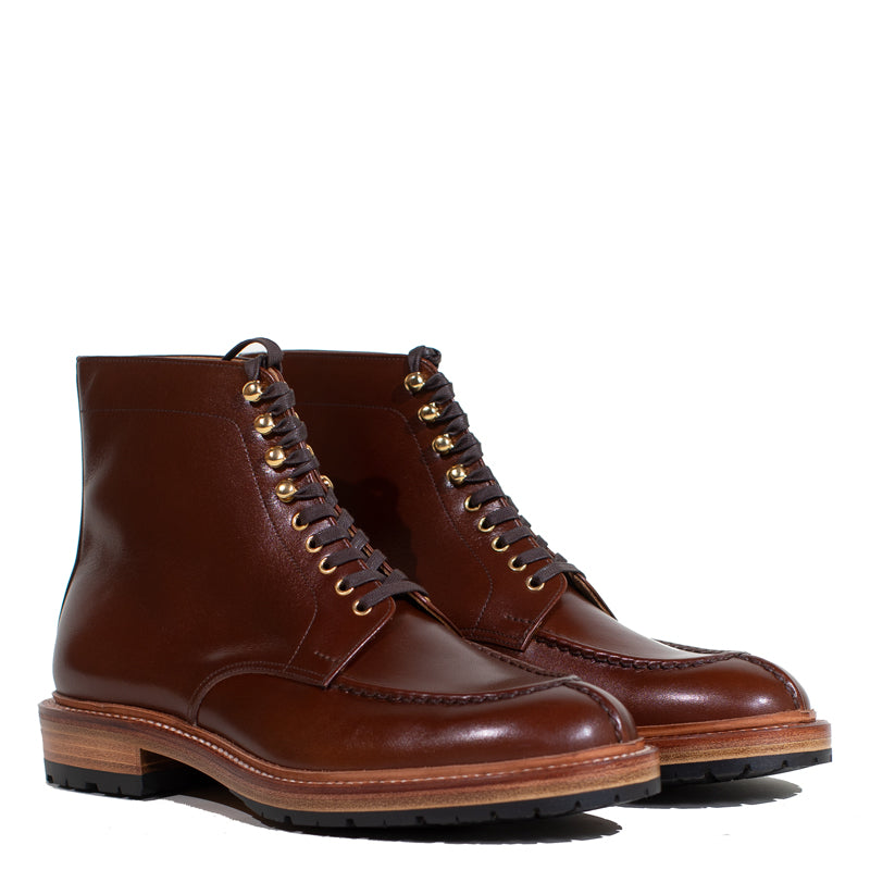 Joe Works Shoemaker - Brown French Calf Tanker Boot (50% DEPOSIT PAYMENT)