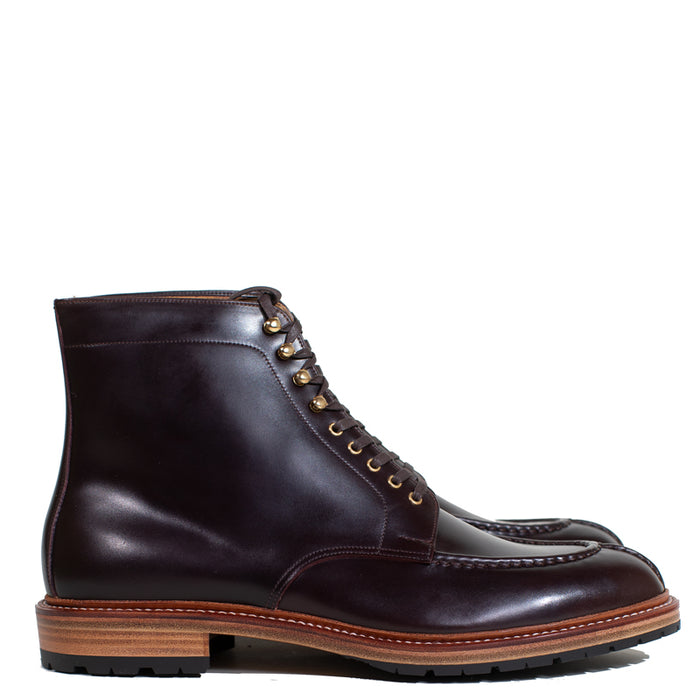Joe Works Shoemaker - Burgundy Cordovan Tanker Boot (50% DEPOSIT PAYMENT)