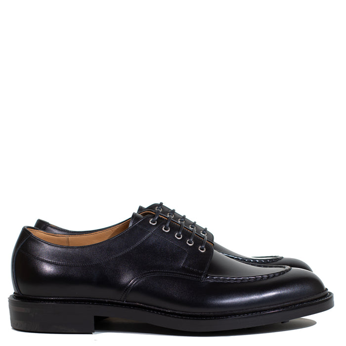 Joe Works Shoemaker - Black Calf Apron Toe Derby (50% DEPOSIT PAYMENT)