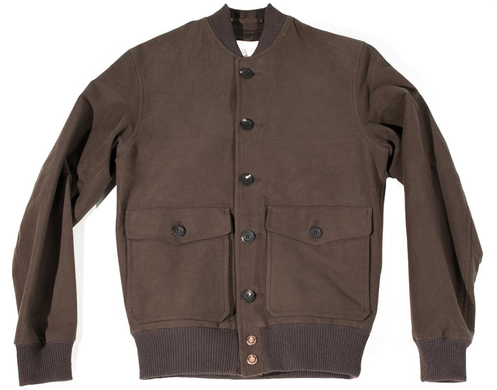 Private White V.C. - Brown Stretch Moleskin Bomber