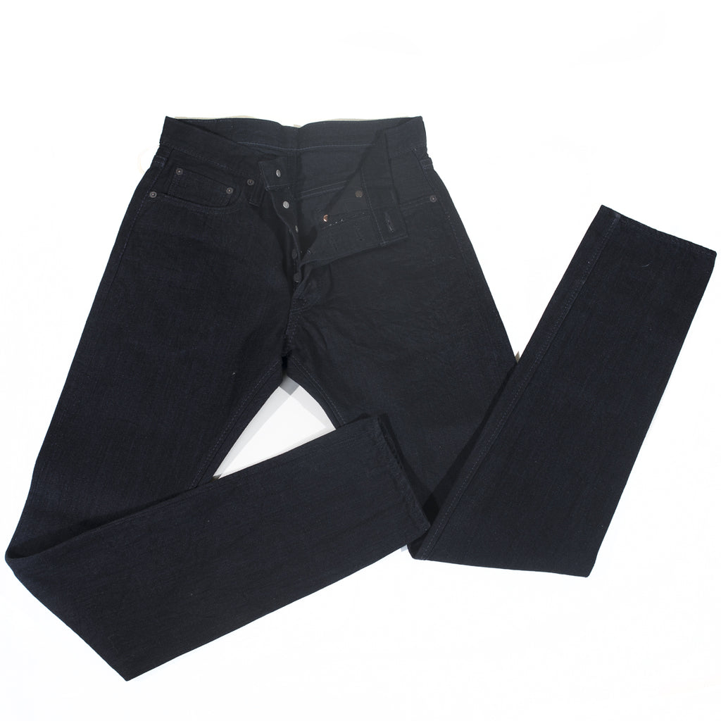 PURE BLUE JAPAN - XX-019-BB Double Black 14OZ RELAXED TAPERED
