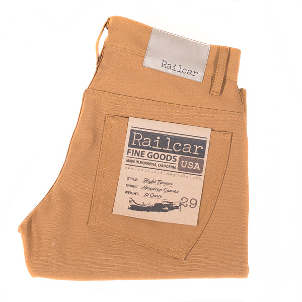 Railcar Fine Goods - Camel American Duck Canvas Flight Trousers
