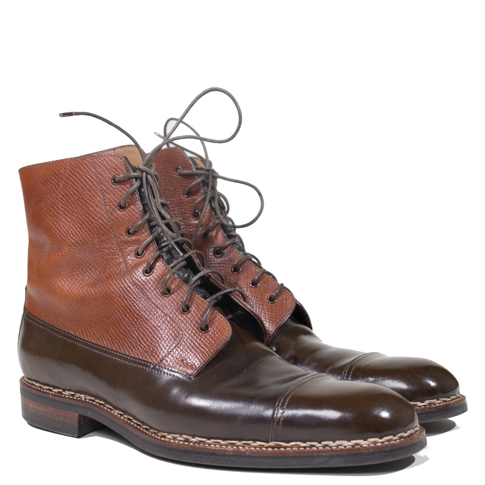 Saint Crispin's - Russian Hatch Grain & Brown Shell Cordovan PC Boot Size 9.5F UK