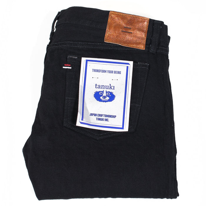 TANUKI - BKUT1 15OZ BLACK SELVEDGE DENIM URBAN TAPERED