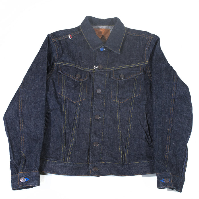 "Tanuki- EJKT3 ""Earth"" Fabric Type Three Denim Jacket"