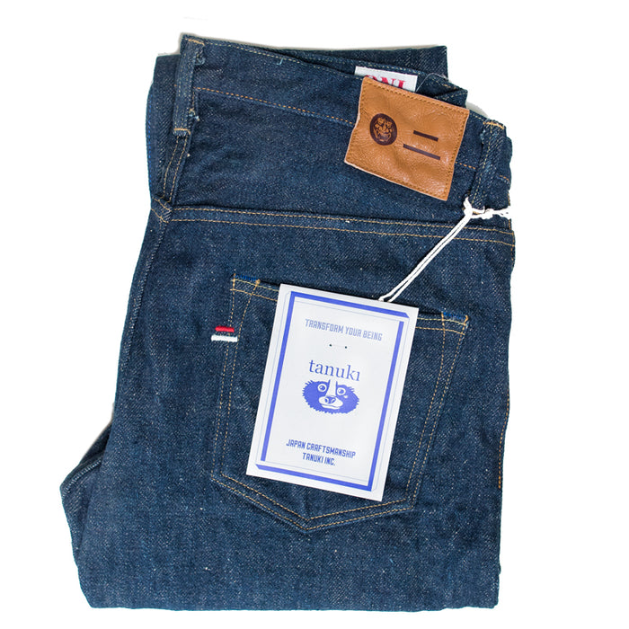 Tanuki x Oni - OTHT 21.5oz Organic Indigo High Tapered Denim