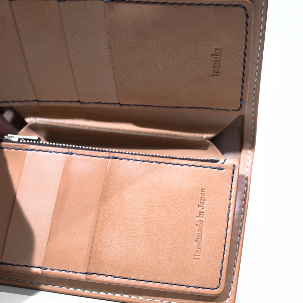 Tanuki - Natural Veg Tan Long Wallet