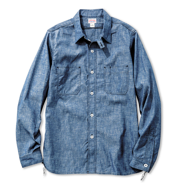 The Real McCoy's - 8 HOUR UNION Navy CHAMBRAY SERVICEMAN SHIRT