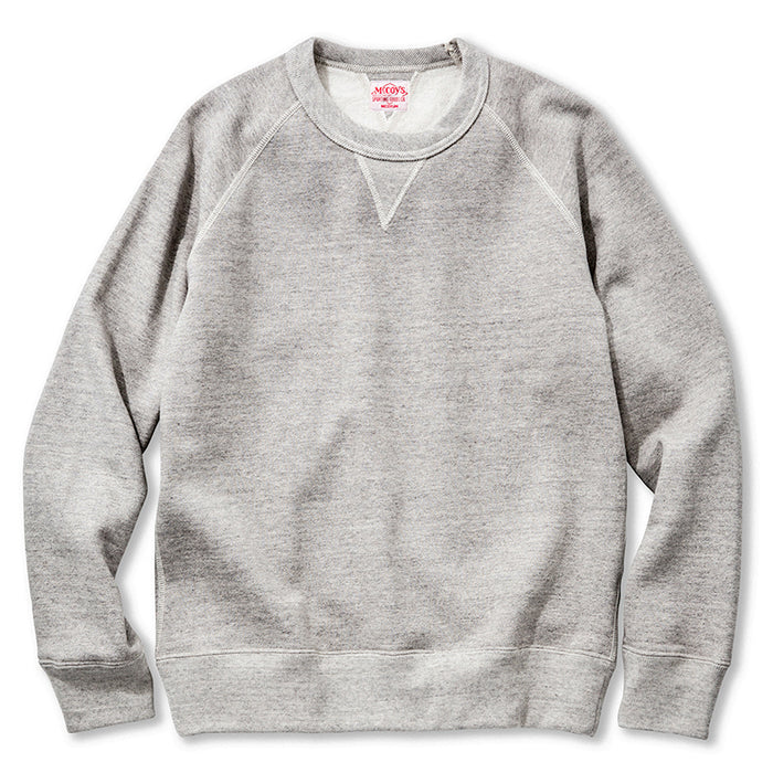 The Real McCoy's - Suvin Cotton Grey Crewneck Sweatshirt