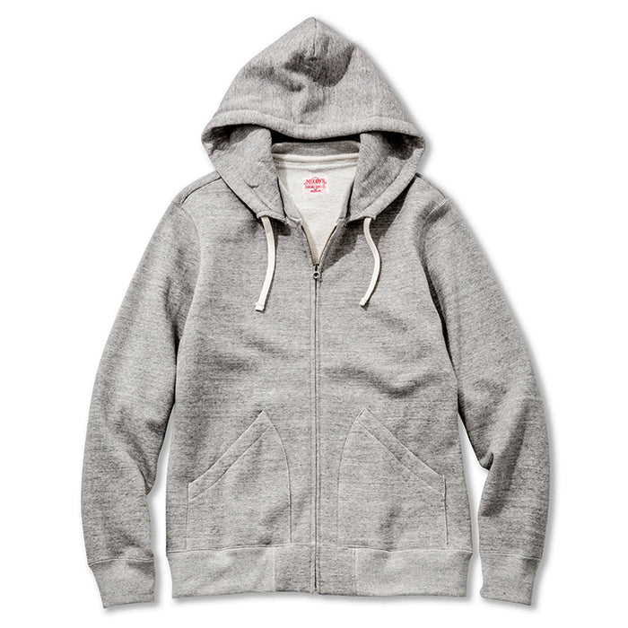The Real McCoy's - Suvin Cotton Grey Zip Up Sweatshirt