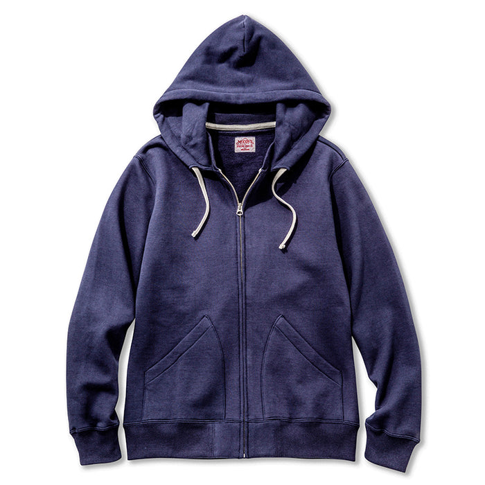 The Real McCoy's - Suvin Cotton Navy Zip Up Sweatshirt