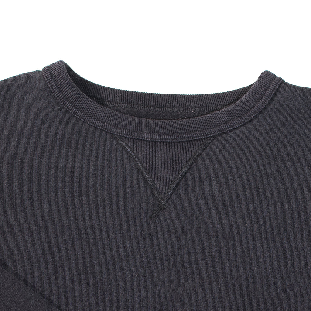 The Strike Gold - Black Loopwheeled Crewneck Sweater