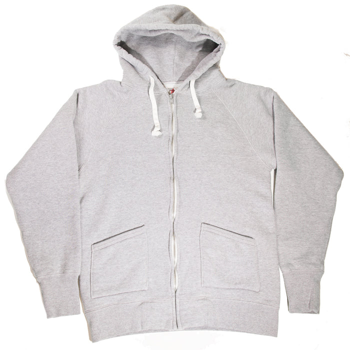 The Strike Gold - Grey Loopwheeled Zip Up Sweater