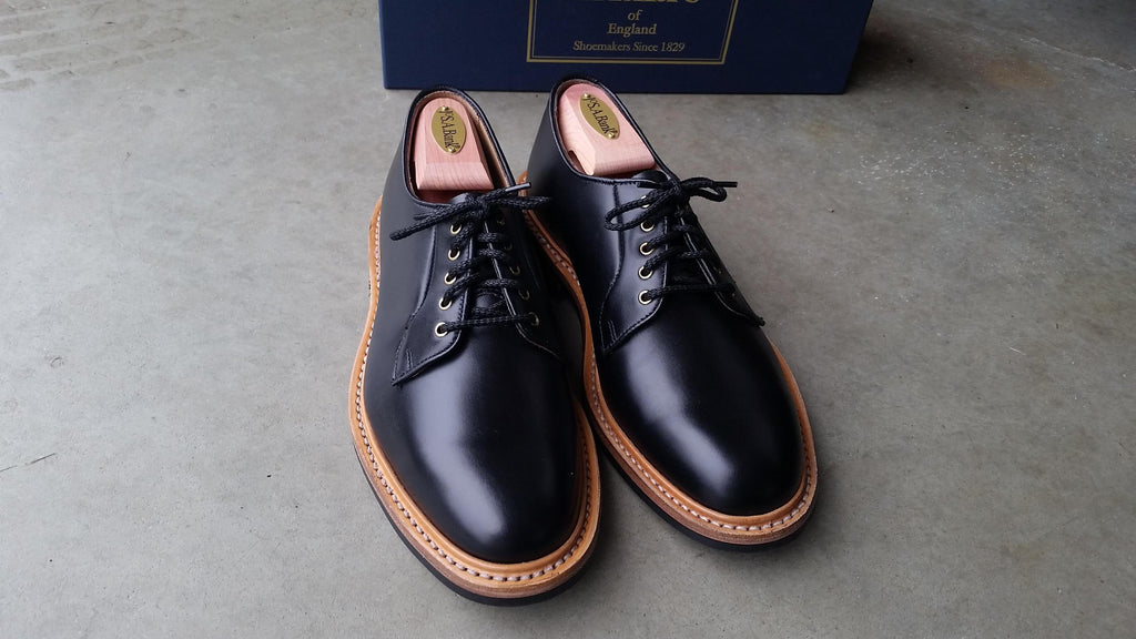 Tricker's - Black Shell Cordovan Robert Derby Shoe