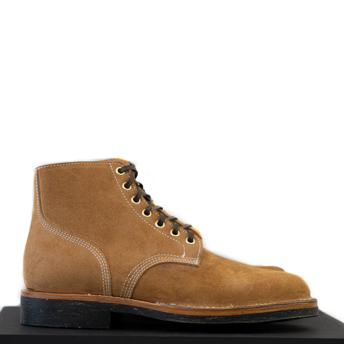 Viberg - Wheat Roughout Boondocker Boot 110 Last ( Seven Eyelets)