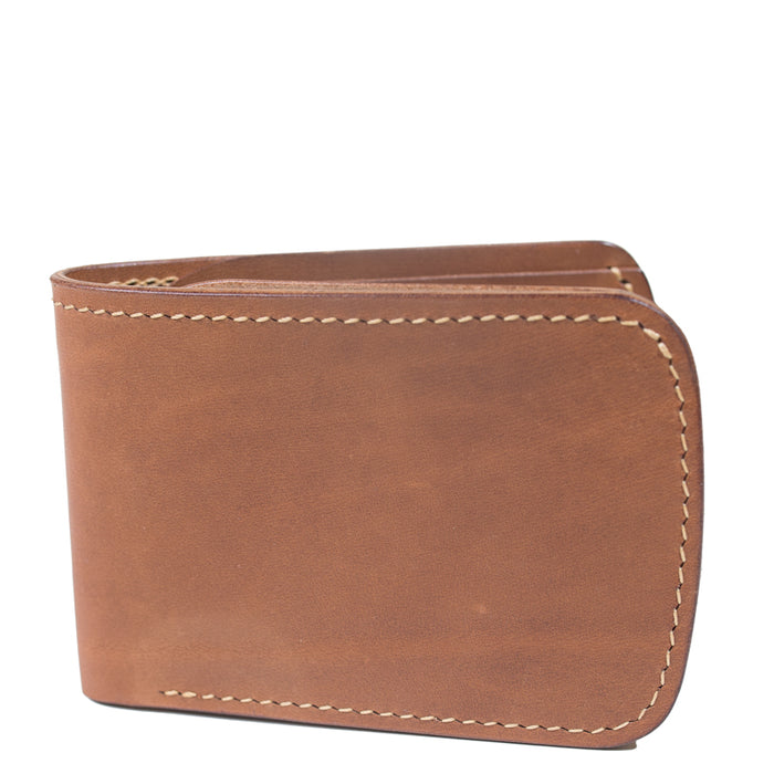 Waxwing Leather - Noce Classic Bifold with Chain Stitch