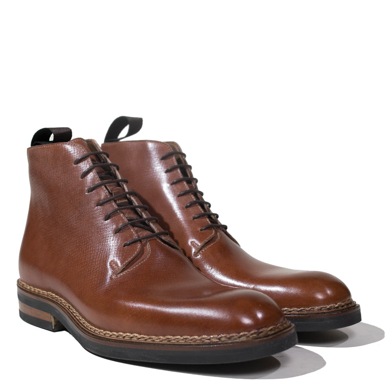 Zonkey Boot - Russian Hatch Grain Whole Cut Boot