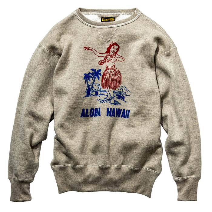 The Real McCoy's - 10 OZ Aloha Hawaii Loopwheel Sweatshirt