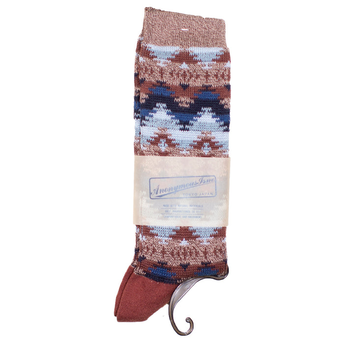 Anonymous ism - Brown Wigwam Knit Socks