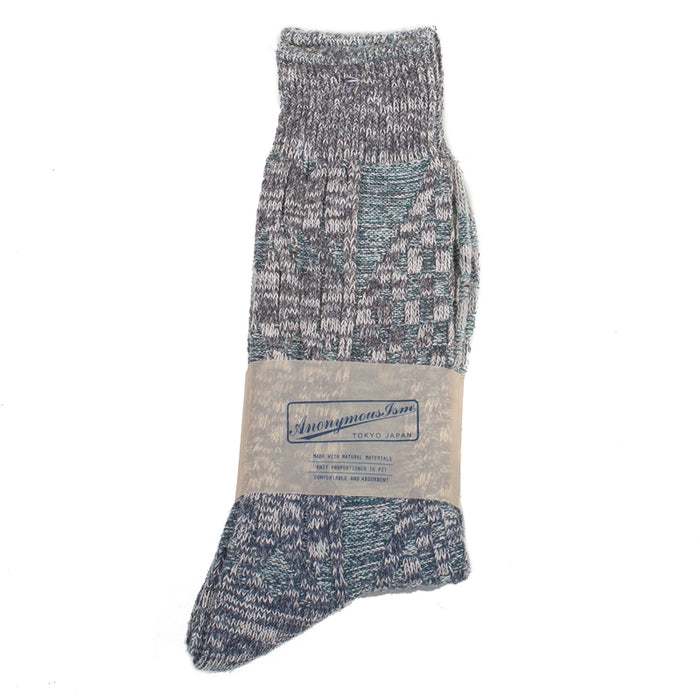 Anonymous ism - Grey Go Hemp Cable Knit Crew Socks