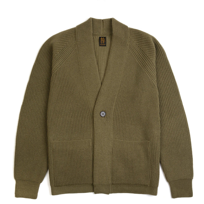 Batoner - Light Khaki Signature Rib Shawl Collar Cardigan