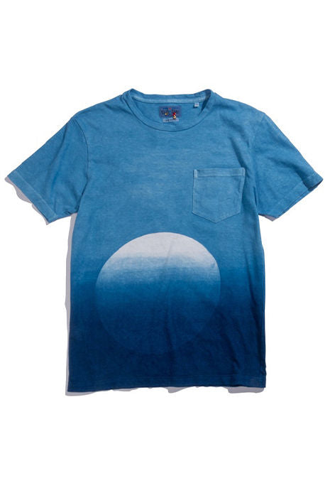 Blue Blue Japan - Hand Dyed Gradient Circle T-Shirt