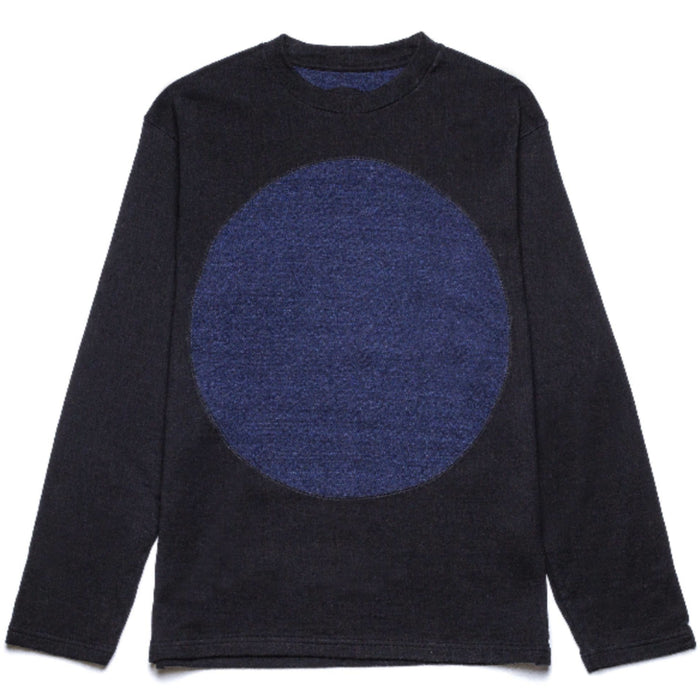 Blue Blue Japan -  Navy Big Blue Circle Crewneck Sweater
