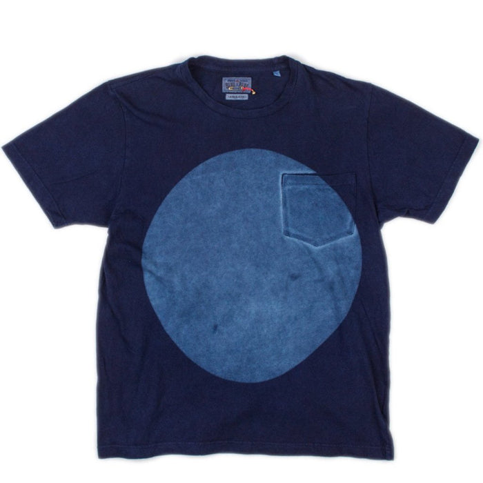 Blue Blue Japan - Hand Dyed Big Circle Slub T-Shirt