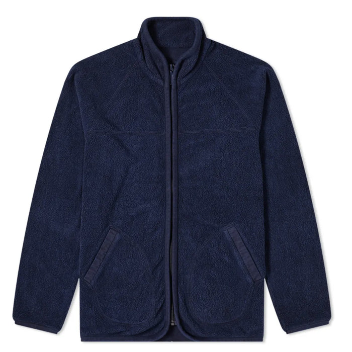 Blue Blue Japan -  COTTON FLEECE HAND DYED Zip Up Jacket