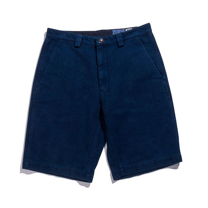 "Blue Blue Japan - PURE INDIGO ""SASHIKO"" SHORTS"